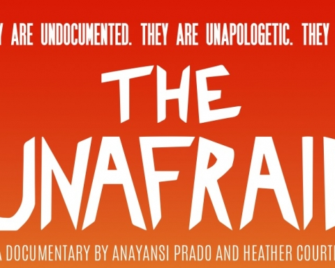 image of the title of the documentary Unafraid